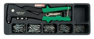 151Pc Hand Riveter Tray