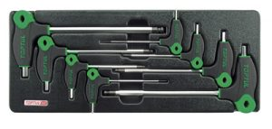 8Pc T- Handle Hex Key Tray 2-10mm