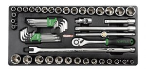 "1/2""Dr Socket & Hex Key Wrench Set Tray 57Pc"