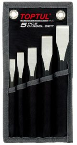 Flat Chisel Set in wallet 5Pc
