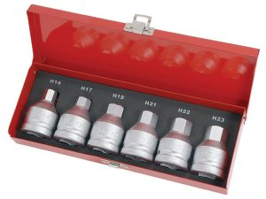 Hex Bit Set - 6pc 3/4in.Dr