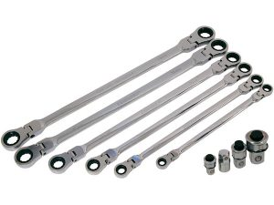 Flexi-Head Ratchet Spanner Set